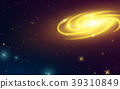 Spiral galaxy in space, illustration of Milky Way 39310849