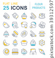 Set Vector Line Icons of Flour Products. 39312597