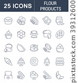 Set Vector Line Icons of Flour Products. 39312600