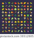 set, vector, berries 39312605