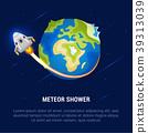 Vector Illustration of Meteor Shower. 39313039