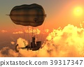 Fantasy Airship Zeppelin Dirigible Balloon 3D 39317347