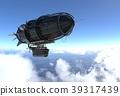 Fantasy Airship Zeppelin Dirigible Balloon 3D 39317439