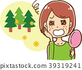 遭受粗砺的皮肤的妇女的例证由于花粉症 39319241