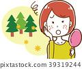 遭受粗砺的皮肤的妇女的例证由于花粉症 39319244
