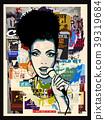 Afro-american jazz singer on wallpaper 39319684