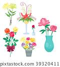 Vintage floral vector bouquet garden flower 39320411