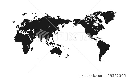 Flat world map on a light background stock illustration 39322366 flat world map on a light background gumiabroncs Image collections