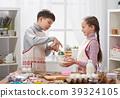 kitchen, girl, boy 39324105