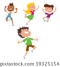 vector, happy, children 39325154