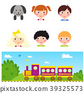 Kids train vector cartoon toy with colorful 39325573