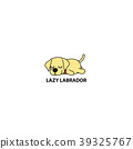 Lazy dog, cute labrador puppy sleeping icon 39325767