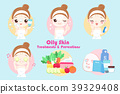 woman with oily skin 39329408