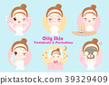 woman with oily skin 39329409