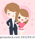 cute cartoon couple 39329414