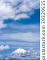 富士山漂浮在雲層中 39329535