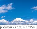 富士山漂浮在雲層中 39329543
