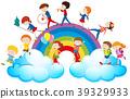 child, music, rainbow 39329933