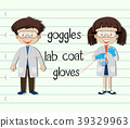 Boy and girl in science outfit 39329963