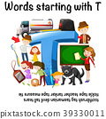 English worksheet for words starting with T 39330011