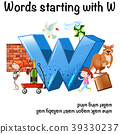 English worksheet for words starting with W 39330237