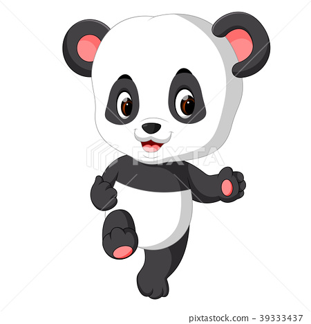 Cute Baby Panda Cartoon Stock Illustration 39333437 Pixta