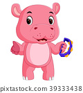 hippo playing instruments tambourine 39333438
