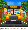 illustration of children of a school bus 39333461