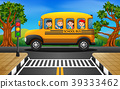 illustration of children of a school bus 39333462