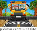 illustration of children of a school bus 39333464