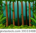 Background scene with trees in forest 39333488