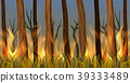 Trees in forest on fire 39333489