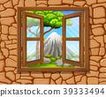 window to nature scene 39333494
