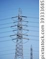 pylon, steel tower, power line 39333685