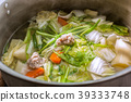 Clear Soup with Vegetables and Meatballs Thai Recipe. 39333748