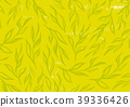차 찻잎 무늬 문양 패턴 39336426