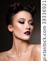 Beautiful woman with professional make up 39336921
