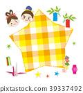 七月格子框架Tanabata 39337492