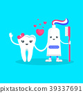 tooth and toothpaste 39337691