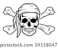 Illustration Vector Graphic Skull Pirate 39338047