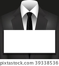 Illustration Vector Suit with Tie and copyspace 39338536