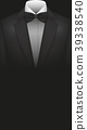 Illustration Vector Suit with Bow Tie copyspace 39338540