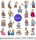 cartoon senior people characters big set 39339052