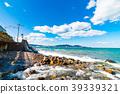 여름의 하구와 바다와 산 홋카이도 오타루시 39339321