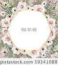 Wedding Invitation, floral card Design.  39341088