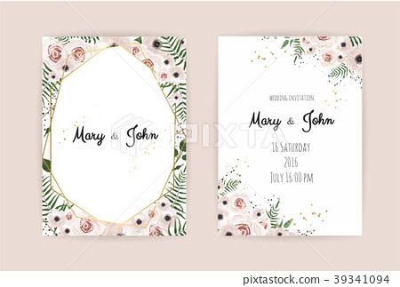 Wedding Invitation, floral invite card Design. - Stock ...