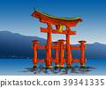 Toriijima Shinto shrine torii 39341335
