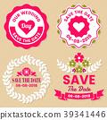 Wedding Retro Vintage Vector Label 39341446