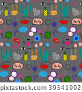 Pattern With Hand Drawn Doodle Lovely Party 39341992