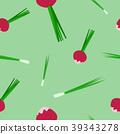 Seamless pattern of radish and onion vector 39343278
